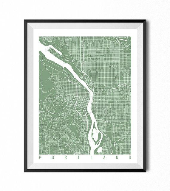 Best 25+ Portland Map Ideas On Pinterest | Map Of Portland Oregon Pertaining To Portland Map Wall Art (Image 2 of 20)