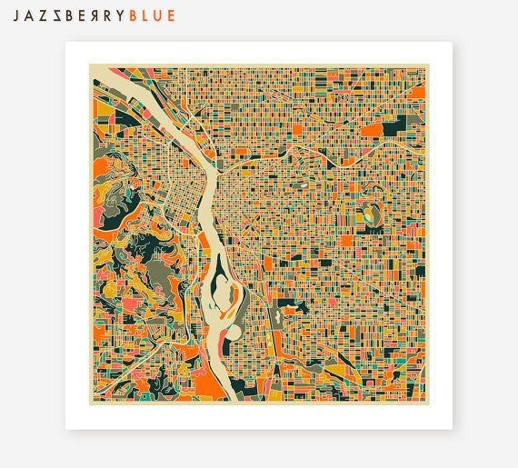 Featured Image of Portland Map Wall Art