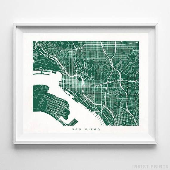 Best 25+ San Diego Map Ideas On Pinterest | San Diego Travel, San Inside San Diego Map Wall Art (Image 8 of 20)