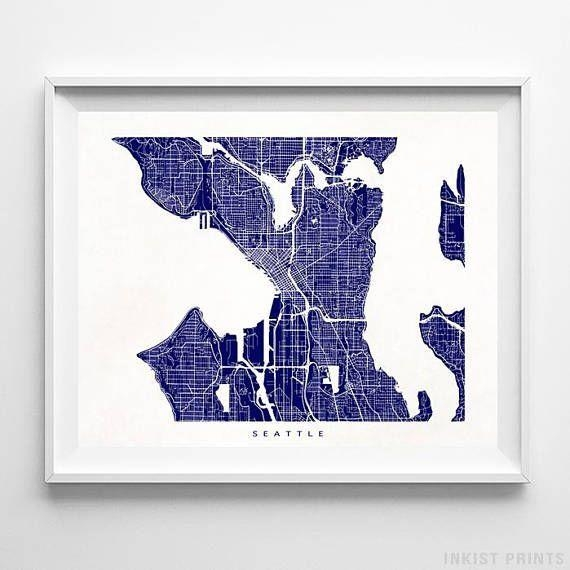 Best 25+ Seattle Map Ideas On Pinterest | Seattle Street, Seattle Intended For Seattle Map Wall Art (View 9 of 20)
