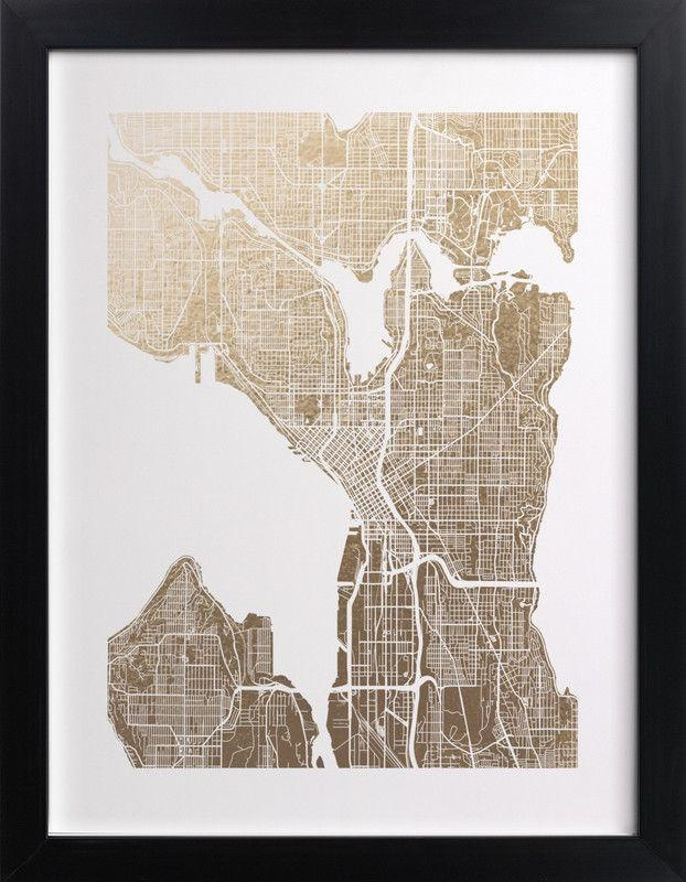 Best 25+ Seattle Map Ideas On Pinterest | Seattle Street, Seattle With Regard To Seattle Map Wall Art (View 4 of 20)