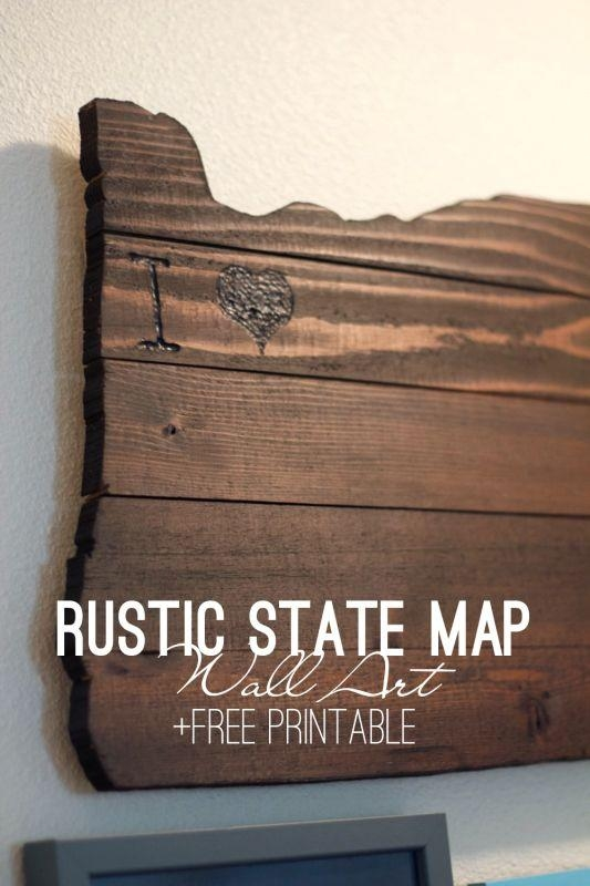 Best 25+ State Map Ideas On Pinterest | Track Distance On Map Pertaining To State Map Wall Art (Image 3 of 20)