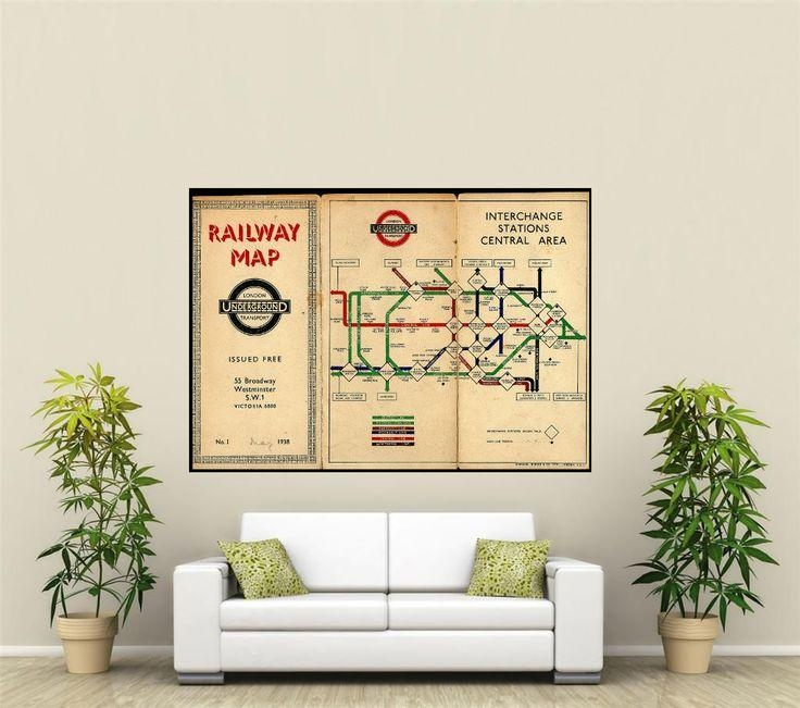 Best 25+ Underground Tube Map Ideas On Pinterest | London For Tube Map Wall Art (Image 8 of 20)