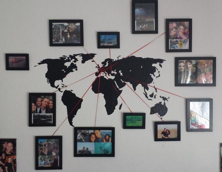 Best 25+ Wall Maps Ideas On Pinterest | Map Wallpaper, Map Bedroom Throughout Travel Map Wall Art (View 3 of 20)