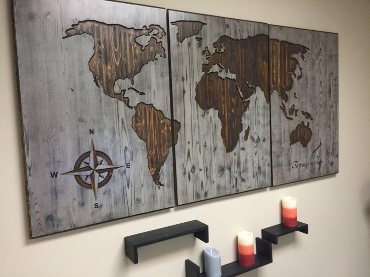 Best 25+ Wooden Map Ideas On Pinterest | Maps, Map Art And World For Custom Map Wall Art (View 12 of 20)