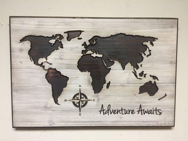 Best 25+ Wooden Map Ideas On Pinterest | Maps, Map Art And World Throughout Wood Map Wall Art (Image 4 of 20)