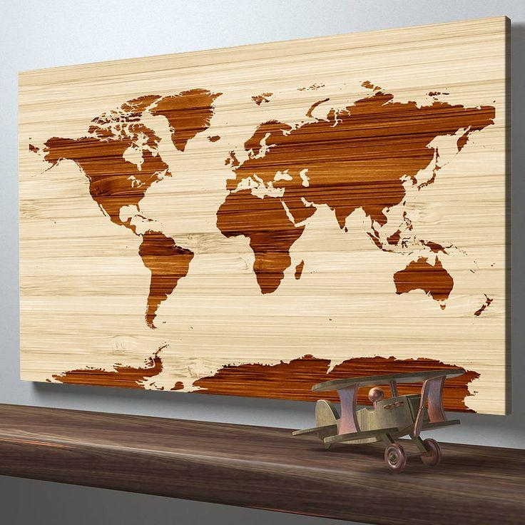 Best 25+ World Map On Wood Ideas On Pinterest | World Map Within Wood Map Wall Art (Image 5 of 20)