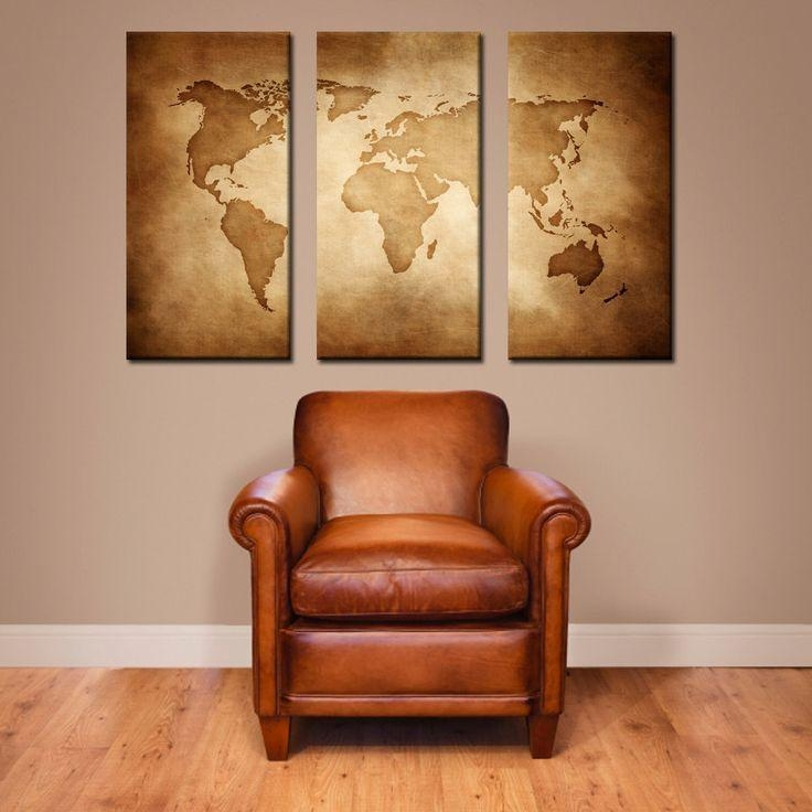 Best 25+ Wrold Map Ideas On Pinterest | World Map Wall, Map Wall Throughout Old Map Wall Art (Image 5 of 20)