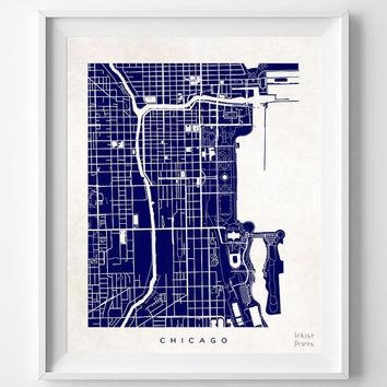 Best Chicago Wall Decor Products On Wanelo Pertaining To Chicago Map Wall Art (Image 4 of 20)