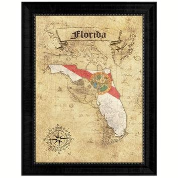 Best Florida State Decor Products On Wanelo Intended For Florida Map Wall Art (Image 7 of 20)