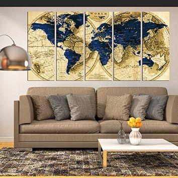 Best Large Map Decals Products On Wanelo Regarding Large Map Wall Art (Image 3 of 20)