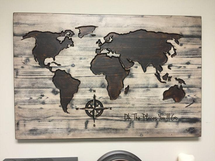 Capricious Wood Map Wall Art World My Wall Of Life Pertaining To Personalized Map Wall Art (View 9 of 20)