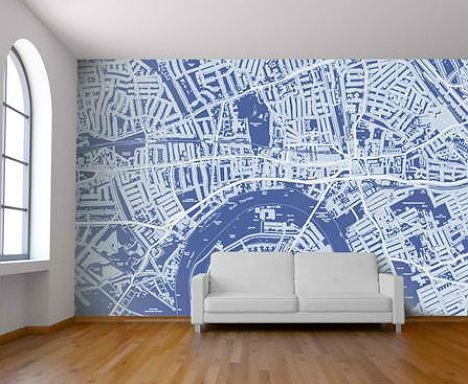 Celebrate Cities With Customizable Map Wallpaper Inside City Map Wall Art (Image 8 of 20)