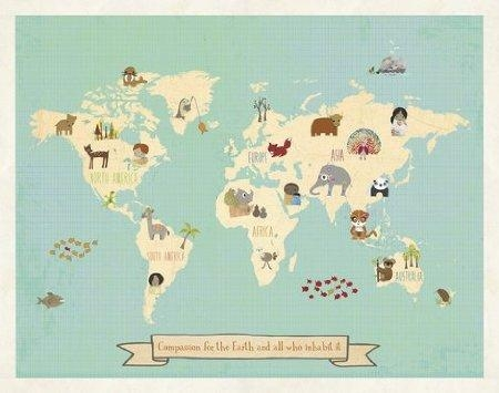 Cheap Children World Map, Find Children World Map Deals On Line At For Kids World Map Wall Art (Image 4 of 20)
