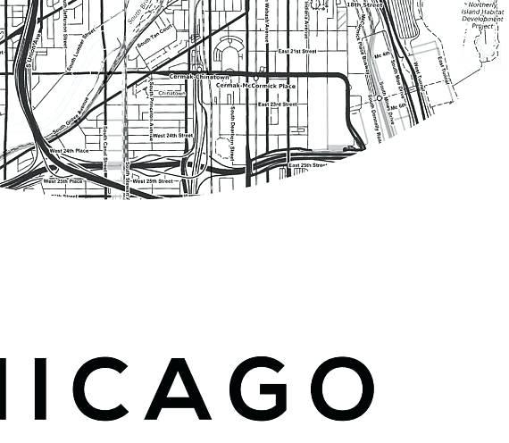 Chicago Map Wall Art Chicago Neighborhood Map Wall Art – Hydroloop With Chicago Neighborhood Map Wall Art (Image 10 of 20)