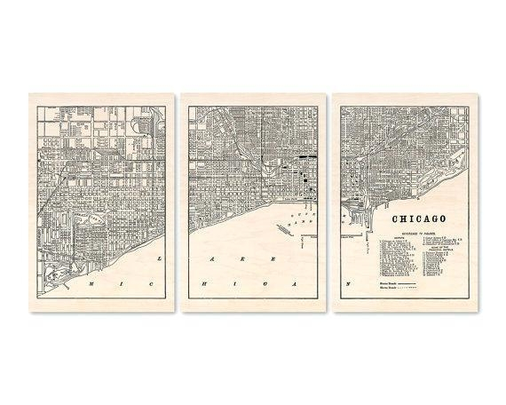 Chicago Map Wall Art – Hydroloop Pertaining To Chicago Map Wall Art (Image 14 of 20)