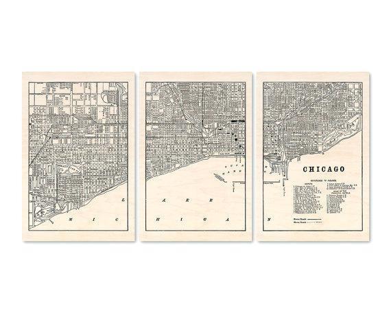 Chicago Map Wall Art – Hydroloop Regarding Chicago Neighborhood Map Wall Art (Image 4 of 20)