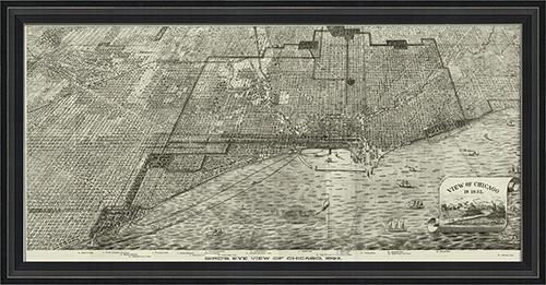 Chicago Map Wall Art Map Framed Wall Art Chicago Neighborhood Map In Chicago Neighborhood Map Wall Art (Image 12 of 20)