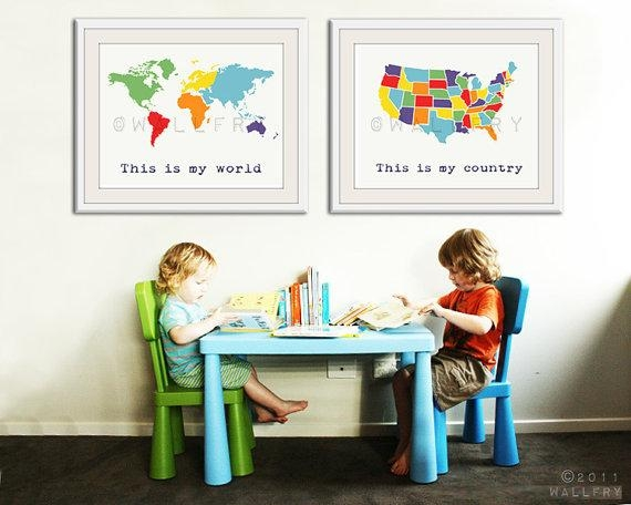 Craftionary Inside Kids World Map Wall Art (Image 7 of 20)