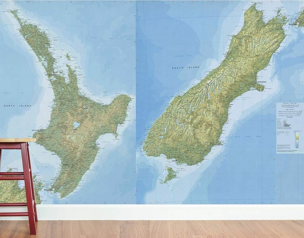 Create An Iconic Kiwi Hostel With Wall Decals – Your Decal Shop Inside New Zealand Map Wall Art (View 10 of 20)