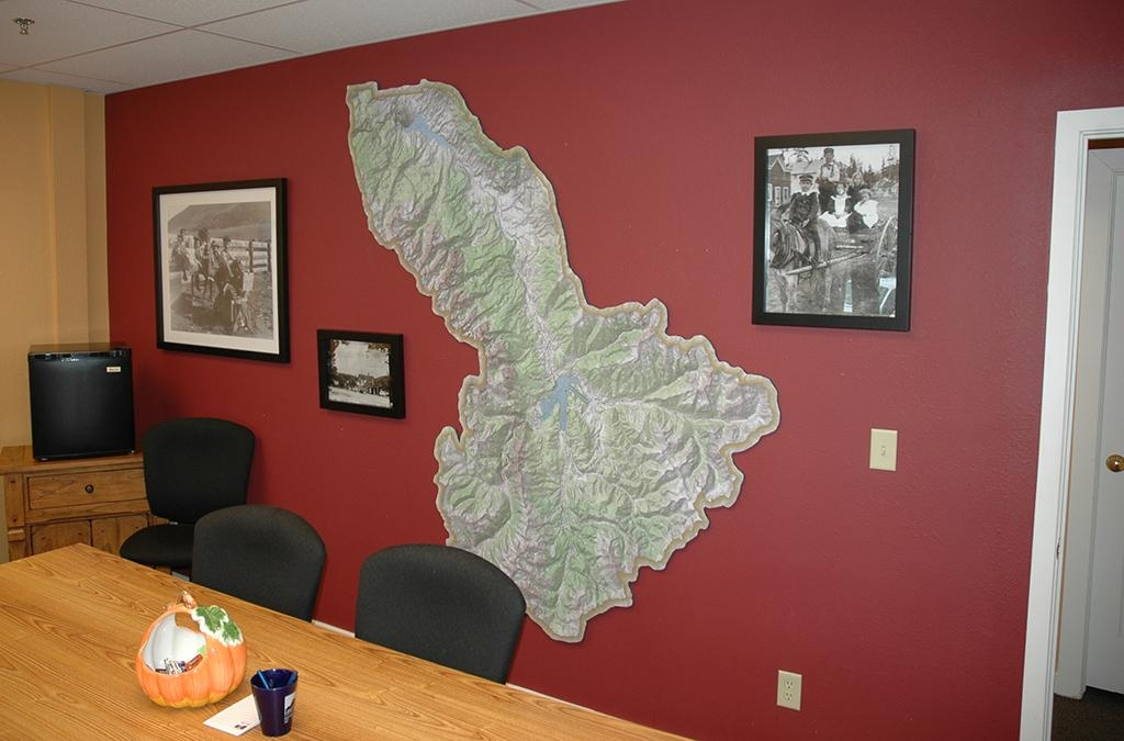 Custom Topographic Maps Lake County Summit County Colorado With Regard To Custom Map Wall Art (Image 13 of 20)