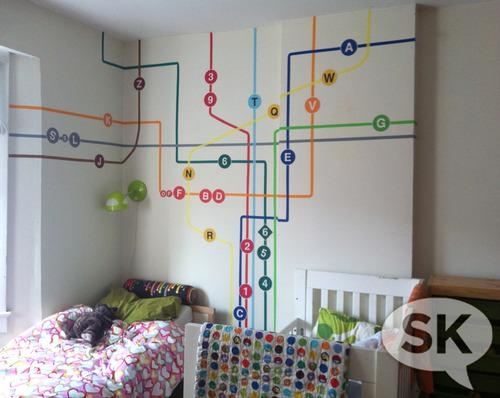 Diy Subway Wall Art With Regard To Subway Map Wall Art (Image 4 of 20)