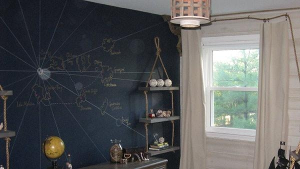 Diy Wall Mural | Knock It Off! | The Live Well Network With Treasure Map Wall Art (Image 4 of 20)