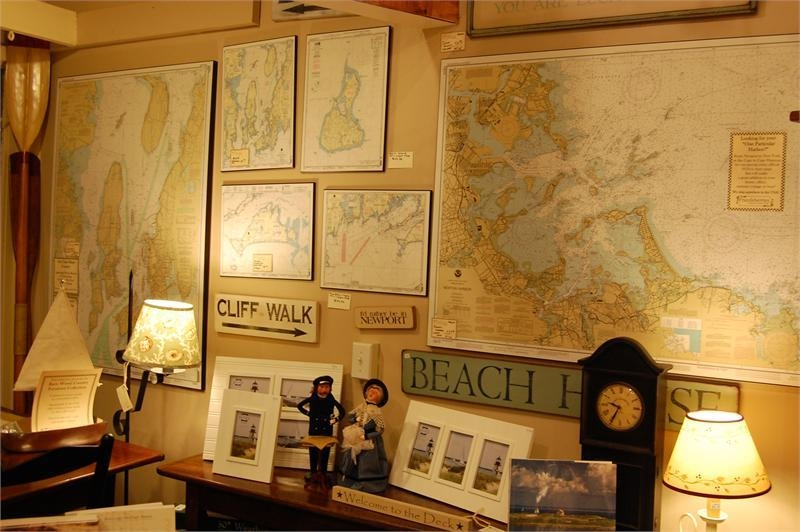 Frazzleberries Mounted Noaa Nautical Chart Maps Pertaining To Nautical Map Wall Art (Image 13 of 20)