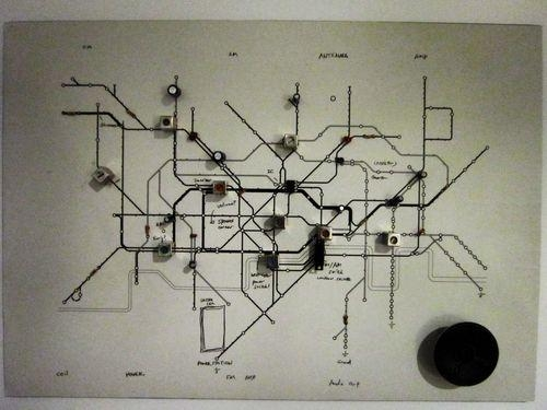 Geek Art Gallery: Crafts: Underground Circuit Map Radio Regarding London Tube Map Wall Art (Photo 20 of 20)