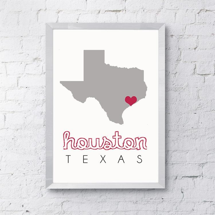Houston Map Wall Art, Houston Wall Art, Printable Map Wall Art Intended For Houston Map Wall Art (View 13 of 20)