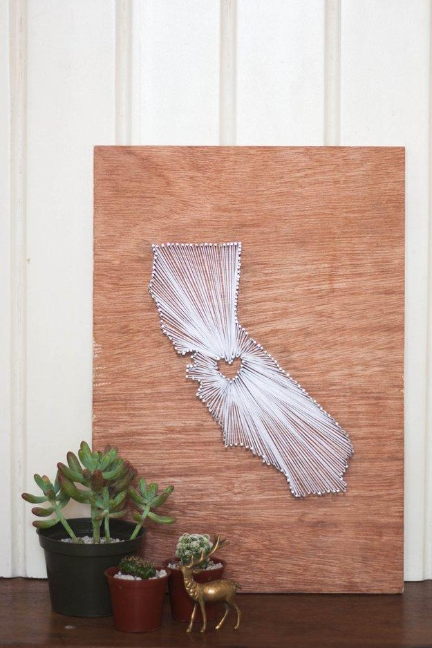 How To Make Your Own String Art Diy Projects Craft Ideas & How With String Map Wall Art (Image 9 of 20)