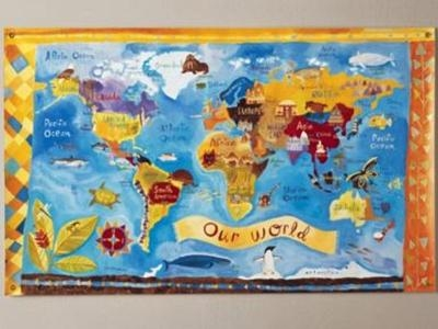 Incultureparent | 10 Best World Maps For Your Children's Room Pertaining To Kids World Map Wall Art (Image 9 of 20)