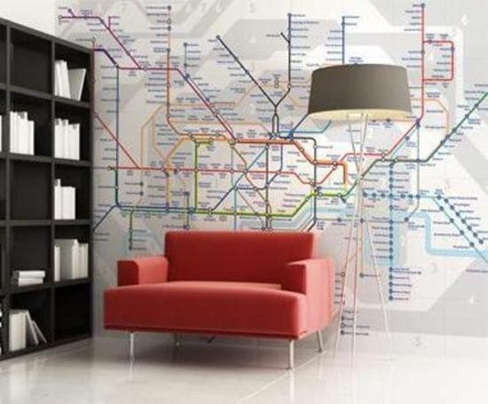 Interior Design Trend – Maps For Tube Map Wall Art (Image 12 of 20)