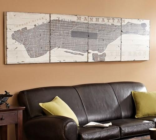 Just Crafty Enough – Diy Inspiration: Map Wall Art With City Map Wall Art (Image 11 of 20)