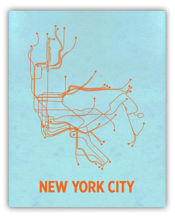 Lineposters – Love Your Subways, Love Your Posters « Markets Of With New York Subway Map Wall Art (View 20 of 20)