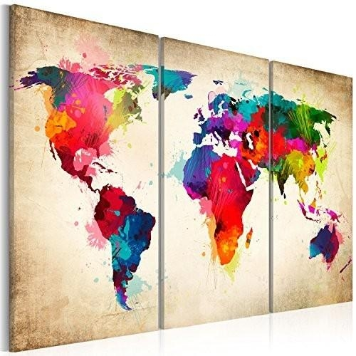 Living Room : Fabulous Abstract World Map Wall Art Project World In Abstract World Map Wall Art (Image 7 of 20)