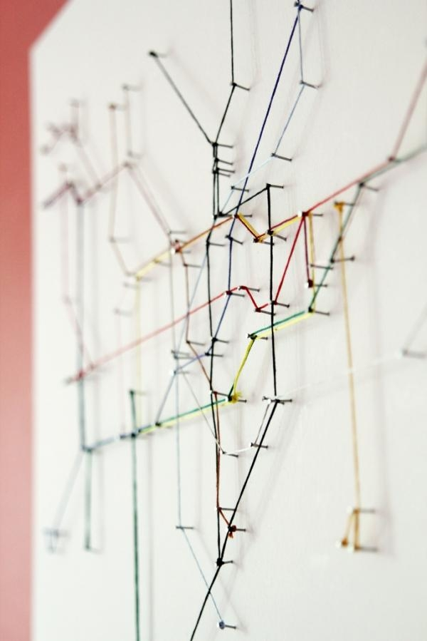 London Underground Map Made From String | Colossal Within London Tube Map Wall Art (View 4 of 20)