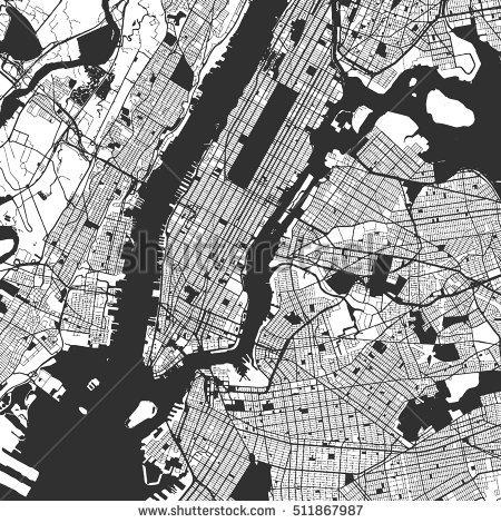 Manhattan Map Stock Images, Royalty Free Images & Vectors With Manhattan Map Wall Art (Image 8 of 20)