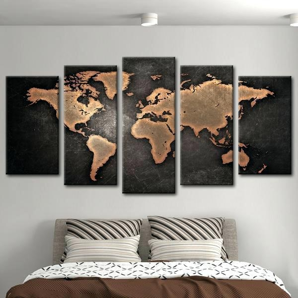 Maps Wall Art World Map Wall Art Canada – Bearister Throughout Map Wall Art Canada (View 4 of 20)