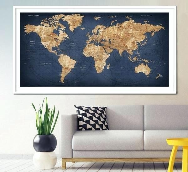 Maps Wall Art World Map Wall Art Canada – Bearister With Regard To Map Wall Art Canada (View 3 of 20)