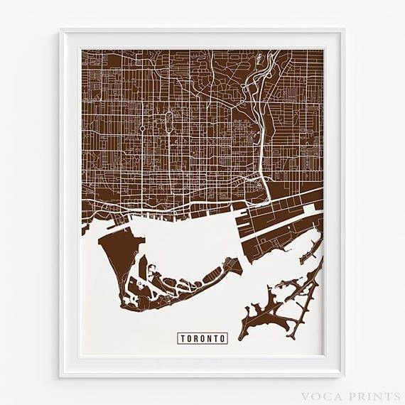 Mer Enn 25 Bra Ideer Om Toronto Canada Map På Pinterest | Toronto For Map Wall Art Toronto (Image 8 of 20)