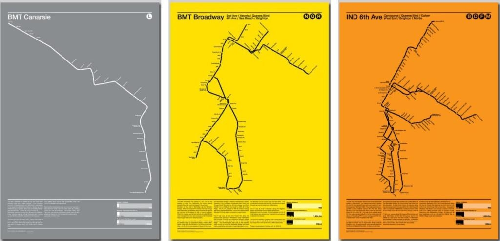 Minimalist Subway Map Posters Are More About Beautiful Design Than Throughout New York Subway Map Wall Art (Image 8 of 20)