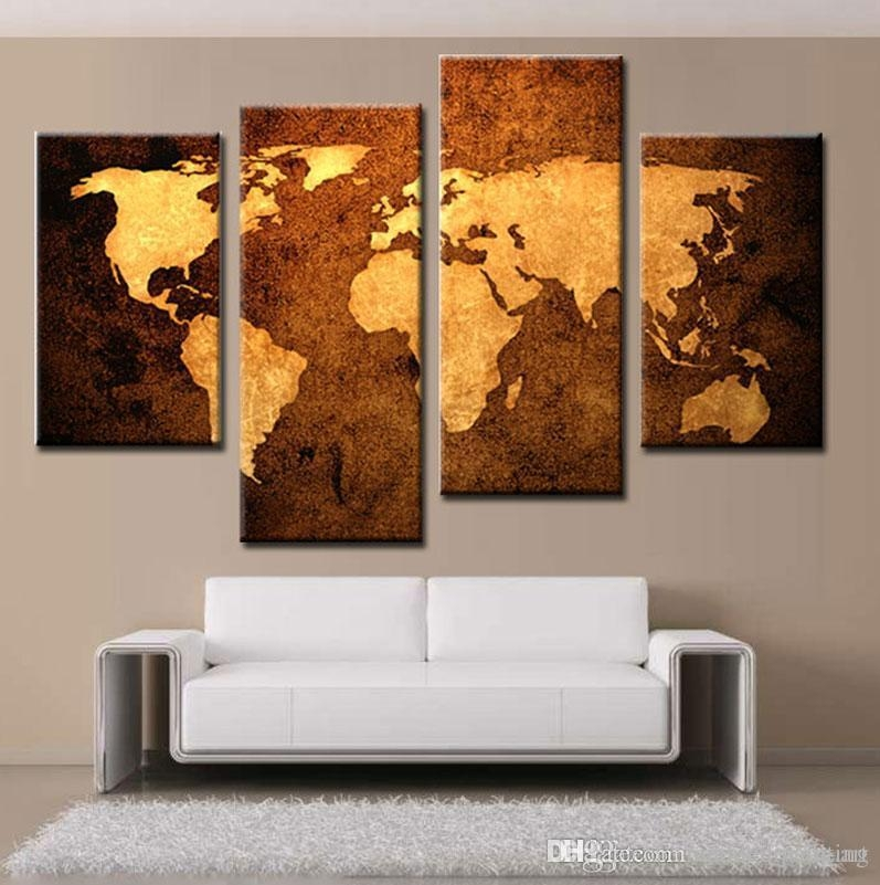 Modern Art Space World Map Paintings Home Wall Art Canvas Printing With World Map Wall Art Canvas (View 10 of 20)