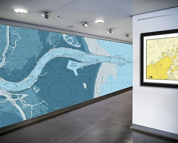 Nautical Chart Wallpaper | Nautical Map Wallpaper | Navigation Within Nautical Map Wall Art (Image 14 of 20)