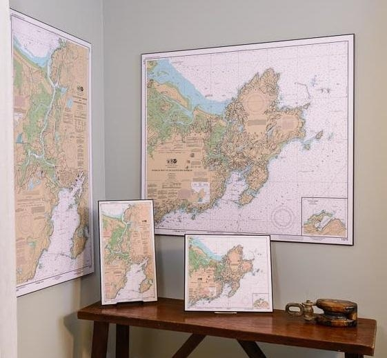 Nautical Charts | Artiplaq Intended For Nautical Map Wall Art (Image 15 of 20)