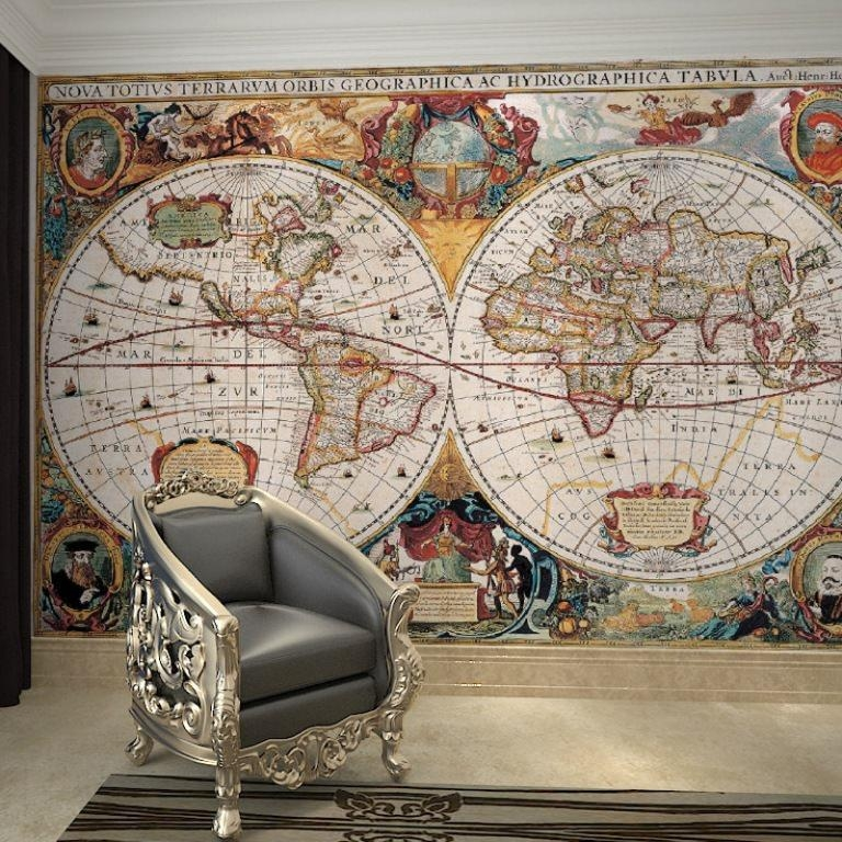 Nautical Map Wallpaper Large — Tedx Designs : Beautiful Nautical Regarding Nautical Map Wall Art (View 12 of 20)