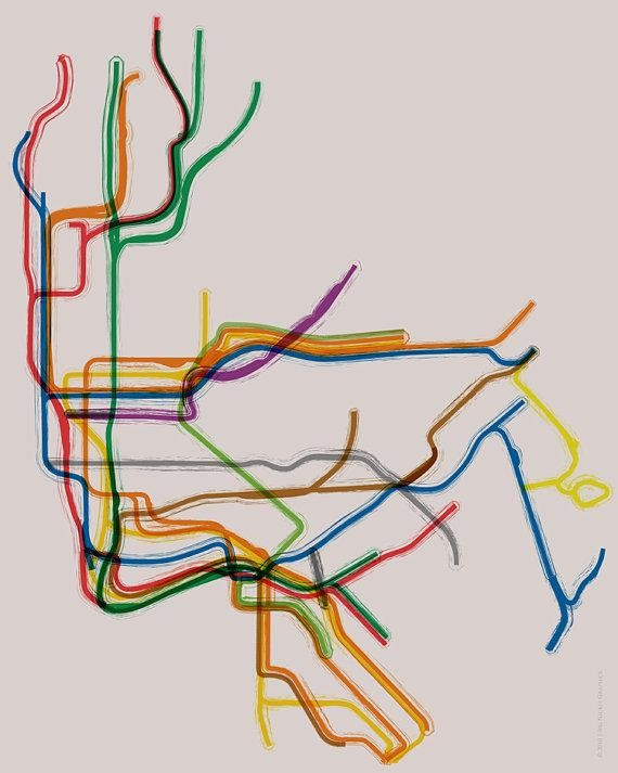New York Subway Poster 16X20 Throughout Nyc Subway Map Wall Art (Image 6 of 20)