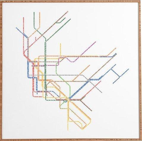 Nyc Subway Map' Framed Wall Art & Reviews | Allmodern In Nyc Map Wall Art (Image 18 of 20)