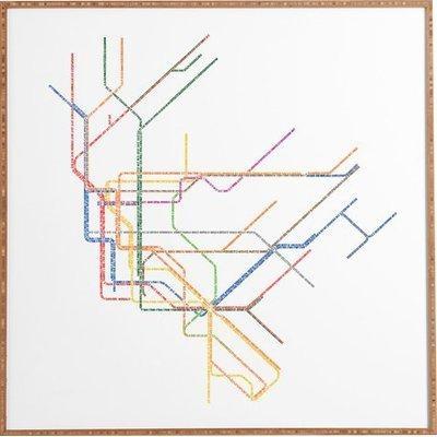 Nyc Subway Map' Framed Wall Art & Reviews | Allmodern In Subway Map Wall Art (Photo 10 of 20)