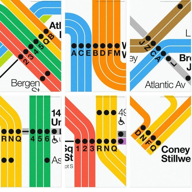 Nyc Subway Posters From Massimo Vignelli And Superwarmred Designs Intended For New York Subway Map Wall Art (Image 12 of 20)